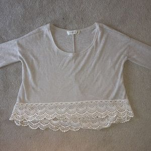 Abercrombie & Fitch Cream Lace Sweater